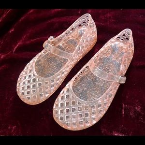 Other - Girls Pink Sparkle Jelly Shoes Size 11